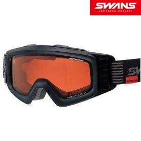 スノーゴーグル 眼鏡対応 ダブルレンズ 偏光レンズ スキー スノーボード HELI-CPDTBS-N MBK センサーターボゴーグル 偏光調光レンズ ターボファン付 SWANS(スワンズ) SWANS スワンズ