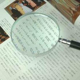 虫眼鏡 エボ柄ルーペ 1240 2.5倍 90mm 拡大鏡 [手持ちルーペ 虫めがね 天眼鏡] 池田レンズ
