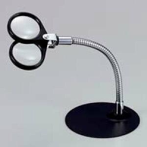 虫眼鏡 スタンド ルーペ 卓上 拡大鏡 スタンド式 スタンドルーペ 1645 4倍&7倍 36mm ルーペ スタンド 池田レンズ ガラスレンズ