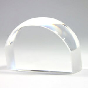 ペーパーウェイトルーペ 中 文鎮 角型 1881 4倍 クリスタルガラス ルーペ 拡大鏡 虫眼鏡 池田レンズ
