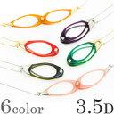 ペンダント ルーペ 双眼メガネタイプ 3.5ディオプター 強度 老眼鏡(シニアグラス)のように使える ネックレス 携帯 お…