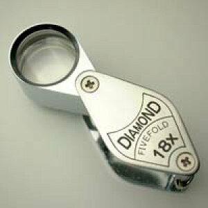 虫眼鏡 宝石用 ルーペ 7011 18倍 17mm アクセサリー 観察 池田レンズ