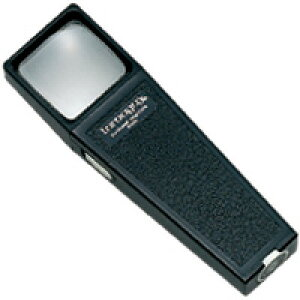 角型ライトルーペ30 G-7502 3倍 30×30mm 虫眼鏡 拡大鏡 アウトレット 池田レンズ