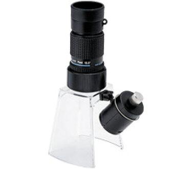 LED 燈的顯微鏡 KM-412LS 12 x 小型顯微鏡畫廊範圍 [KM-412] LED 照明放大鏡站 [KM-1LED] 集的池田鏡頭