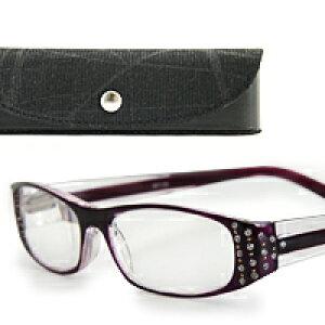 老眼鏡 シニアグラス SG-05PL 専用ケース付き リーディンググラス [パープル] 男性 女性 おしゃれ
