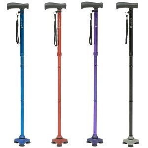 自立式 杖 ハリケーン ステッキ 介護用品 3点杖 リハビリ おしゃれ 女性 男性 敬老の日