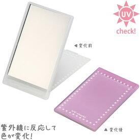 UVチェックコンパクトミラー・ミニ UV-10 堀内鏡工業