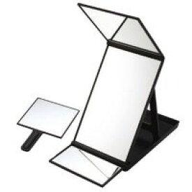 三面鏡 ヘアカラーミラー 毛染め用鏡 一人でも染められて便利 ヘアチェック ミラー ヘア・カラーに最適な三面鏡 スタンドミラー 卓上ミラー ヘアカラー 折りたたみ