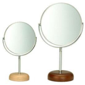 アコースティック ウッドベース アルミニウム スタンドミラー φ5inch L AC-5L パラデック Acoustic Aluminium Stand Mirror with Wood Base 鏡 卓上 ミラー 卓上ミラー スタンドミラー