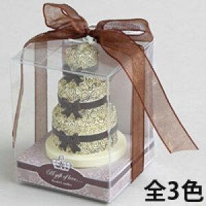 アロマキャンドル ウェディングケーキ [ローズの香り] バロエ デコレーション キャンドル ブライダル アロマ プレゼント 女性 ギフト おすすめ 人気 安い