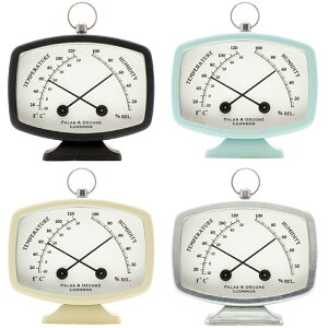 ポーム コンパクト温湿度計 温度計 湿度計 おしゃれ かわいい コンパクト 雑貨 インテリア クリスマスプレゼント