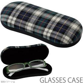 メガネケース ハード JT-70 チェック柄GE パール 眼鏡ケース おしゃれ かわいい めがねケース レディース ギフト プレゼント