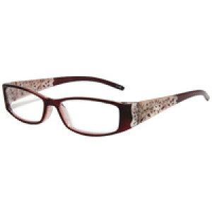 老眼鏡 602W リーディンググラス シニアグラス ワインレッド 薔薇柄 バラ ローズ コンパクト 女性