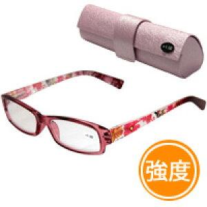 老眼鏡 花柄 607BU リーディンググラス シニアグラス 女性 おしゃれ 強度