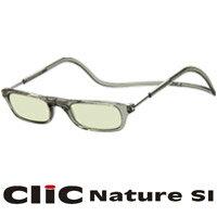 老眼鏡 PCメガネ CliC Nature SI クリアグレー クリックナチュレ シニアグラス PCグラス 男性 女性 おしゃれ