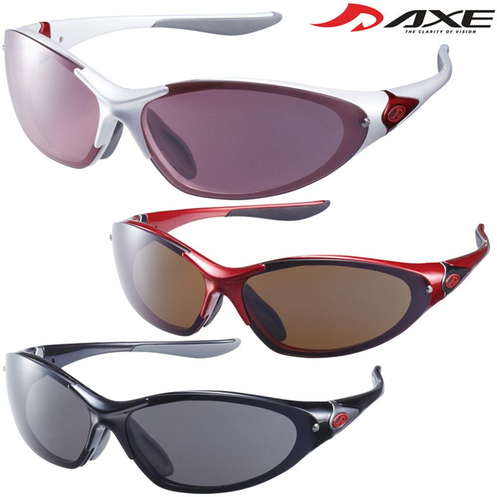 スポーツサングラス UVカット AS-375 ACTIVE STYLE メンズ レディース ゴルフ ドライブ 釣り 紫外線カット99.9% AXE アックス