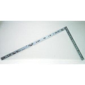 曲尺ツーバイフォー シルバー 2×4/50cm 併用目盛 19mm巾 10055 かねじゃく さしがね 定規 ステンレス シンワ測定