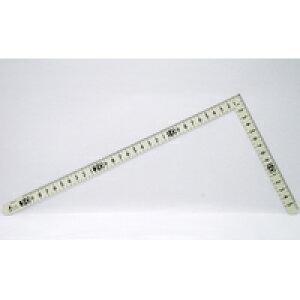 曲尺小型 ホワイトサンデー 白色 30×15cm裏面角目 黒目盛 12476 かねじゃく さしがね 定規 ステンレス シンワ測定