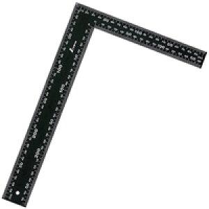 フラットスコヤ 黒色 30×20cm白目盛 62359 測定 工具 直角 曲尺 さし 定規 DIY シンワ測定