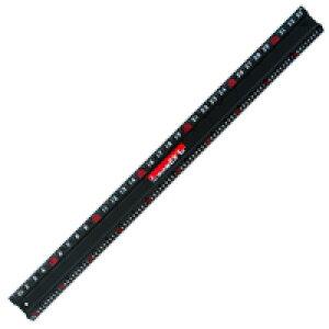 アルミカッター定規 カット師EX 1m 併用目盛 定規 カッター定規 ステン鋼 シンワ測定