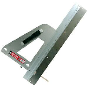 丸ノコガイド定規 エルアングル 60cm併用目盛 補助板付 77883 測定機器 測定工具 側量用品 定規 大工道具 シンワ測定