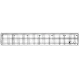 方眼直定規 アクリル製 30cm 77089 製図 定規 直尺 方眼目盛付 シンワ測定