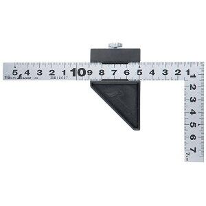 曲尺平ぴた シルバー 15cm 表裏同目 ストッパー付 12437 シンワ測定 工具 スケール ステンレス 定規 さしがね かねじゃく ケガキ作業 大工 道具 DIY おすすめ