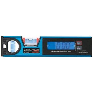 ブルーレベル Jr. 2 デジタル220mm 防塵防水 マグネット付 工具 水平器 おすすめ 気泡管 精度 角度 水準器 シンワ