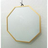 開運八角壁掛け鏡ゴールドLイメージ