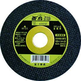 富士 薄物切断砥石雷鳥スリムゴールド150X1.6X22 [RSG150] RSG150 5枚セット