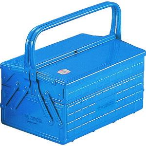 スチール製 工具箱 工具入れ 収納 整理 diy おすすめ 大工道具 ケース TRUSCO トラスコ中山 2段式工具箱 352X220X289 ブルー [GL-350-B] 販売単位:1 送料無料