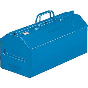 スチール製 工具箱 工具入れ 収納 整理 diy おすすめ 大工道具 ケース TRUSCO トラスコ中山 山型中皿付工具箱 461X201X261 ブルー [L-450-B] 販売単位:1 送料無料