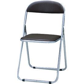 TRUSCO トラスコ中山 折りたたみパイプ椅子 ウレタンレザーシート貼り ブラウン [FC-1000TS BR] FC1000TS 販売単位:1