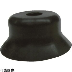 CONVUM 吸着パッド 平型ワンタッチ取付 Φ6 ニトリルゴム 黒色 [PFG-6A-N] PFG6AN 販売単位:1