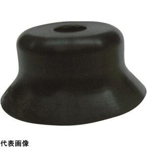 CONVUM 吸着パッド 平型トメネジ取付 Φ80 ニトリルゴム 黒色 [PFG-80-N] PFG80N 販売単位:1