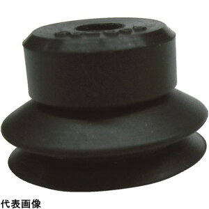 CONVUM 吸着パッド ジャバラトメネジ取付 Φ40 ニトリルゴム 黒色 [PJG-40-N] PJG40N 販売単位:1