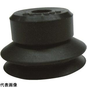 CONVUM 吸着パッド ジャバラワンタッチ取付 Φ6 ニトリルゴム 黒色 [PJG-6-N] PJG6N 販売単位:1