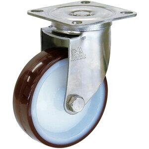 プレート式ステンレス金具キャスター ウレタン車 シシク ステンレスキャスター ウレタン車輪付自在 [SUNJ-200-POTH] 販売単位:1 送料無料