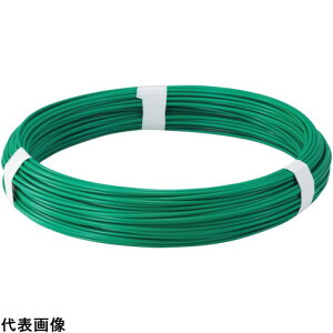 針金 被覆タイプ TRUSCO トラスコ中山 カラー針金 ビニール被覆タイプ グリーン 線径1.2mm [TCW-12GN] 販売単位:1