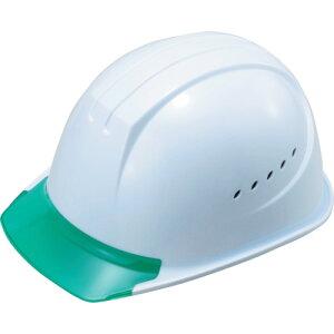 タニザワ エアライト搭載ヘルメット通気孔付き(PC製・透明ひさし型) 帽体色 ホワイト [1610-JZV-V3-W3-J] 1610JZVV3W3J 販売単位:1