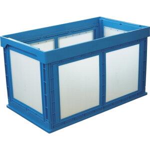 ダンボールプラスチックコンテナ KUNIMORI プラスチック折畳みコンテナ パタコン N-180 ブルー [50210-N180-B] 販売単位:1 送料無料