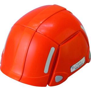 トーヨーセフティ 防災用折りたたみヘルメット BLOOM オレンジ [NO100-OR] NO100OR 販売単位:1 送料無料
