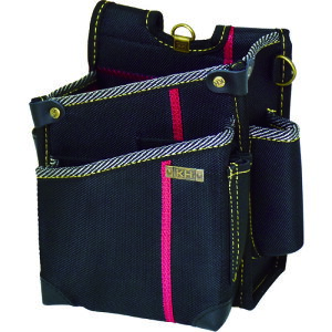 KH 進化シリーズ ウエストバッグ2段ポケット(大) 黒/緋 右腰用 [SA08K]  SA08K 販売単位:1