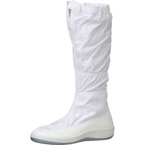 作業靴 ワークシューズ 安全靴 クリーンルーム用シューズ おすすめ 作業用 くつ ミドリ安全 クリーン静電靴 フード ファスナー式 SU561 21.5CM [SU561-21.5] 販売単位:1 送料無料