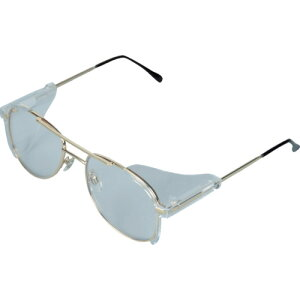 二眼型保護メガネ フレームタイプ TRUSCO トラスコ中山 二眼型セーフティグラス メタルフレームタイプ [MS-0106A] MS0106A 販売単位:1