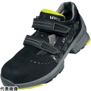 作業靴 UVEX サンダル ブラック/ライム 26.0CM [8542.4-41] 販売単位:1 送料無料