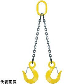 キトー キトーチェンスリング100標準セット品(アイタイプ) 2本吊り 基本使用荷重2.4t [D-HM-HTS-7.0-1.5-SET] DHMHTS7.01.5SET 販売単位:1 送料無料