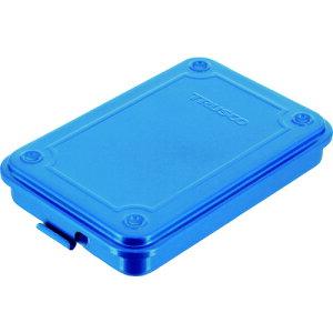 スチール製 工具箱 工具入れ 収納 整理 diy おすすめ 大工道具 ケース TRUSCO トラスコ中山 トランク型工具箱 154X105X29 ブルー [T-15] 販売単位:1