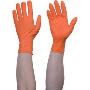 TRUSCO トラスコ中山 使い捨てニトリル手袋TGワーク 0.10 粉無オレンジS [TGNN10OS]  TGNN10OS 販売単位:1