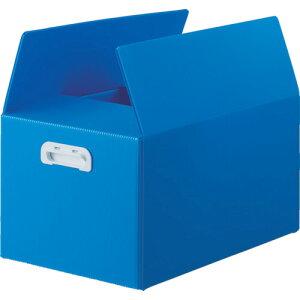 ダンボールプラスチックコンテナ TRUSCO トラスコ中山 ダンボールプラスチックケース 5枚セット 果物箱サイズ 取っ手穴なし ブルー [TDP-KMD-5B] TDPKMD5B 販売単位:1 送料無料
